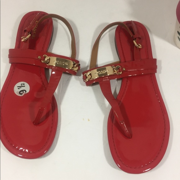 a5e65dc78 Coach Shoes - Coach Caterine Women s Red Sling Back Sandals